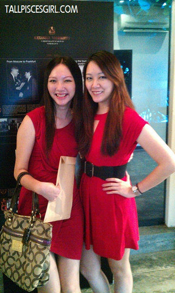 Yours truly and Joanna, both in red!