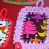 Idea: tarjetas navideñas al crochet super express!