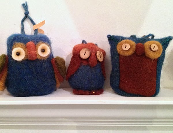 felted owls from Roost