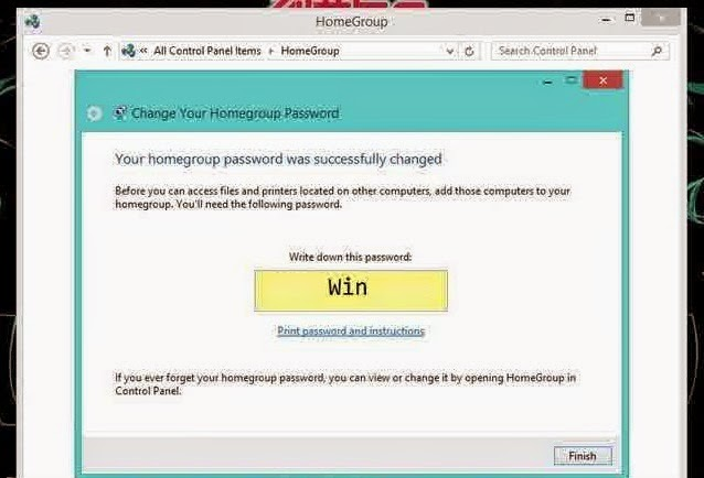 Cara Mengganti Password HomeGroup di Windows 8