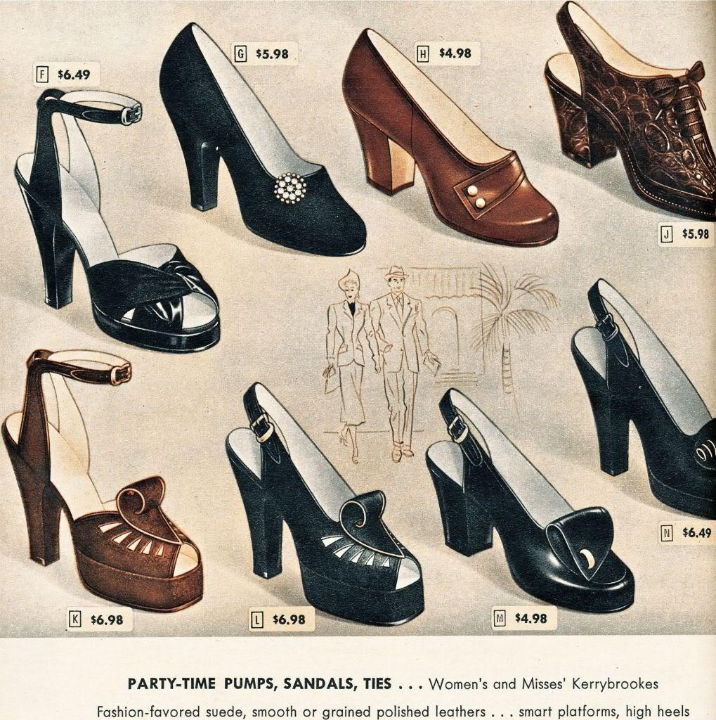 Model 1940s Women Shoes Royal Vintage Shoes  1940s