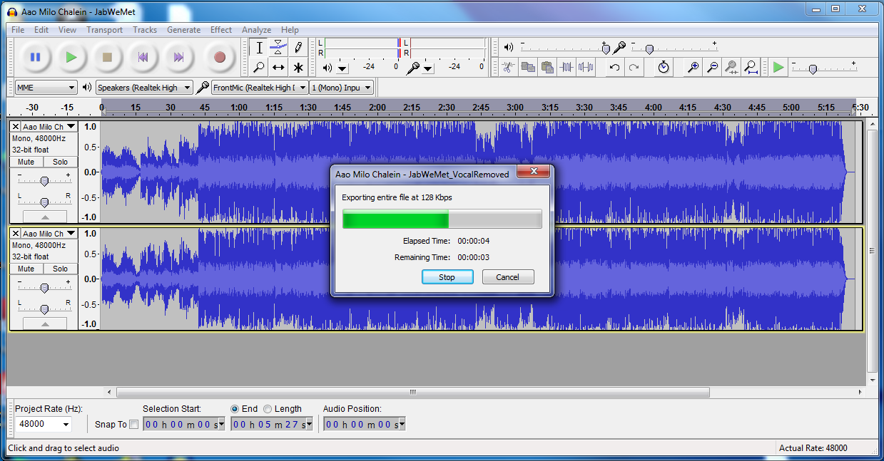 how to cut songs using audacity