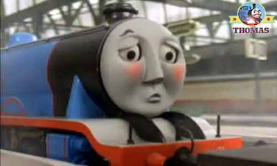 Thomas and Gordon the big express was embarrassed the Fat Controller spoke harshly big blue Gordon