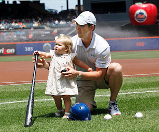 Eli Manning and Ava Manning #PampersMVDs