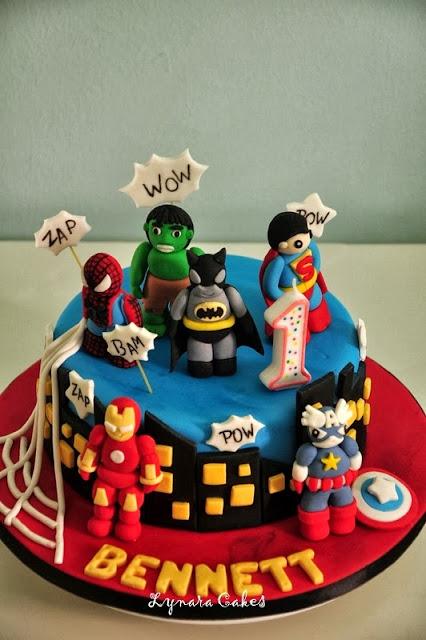 Superheroes Birthday Cakes Singapore