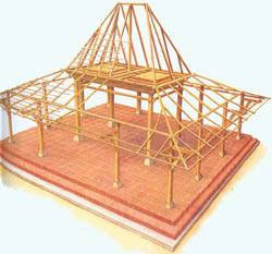 struktur rumah joglo