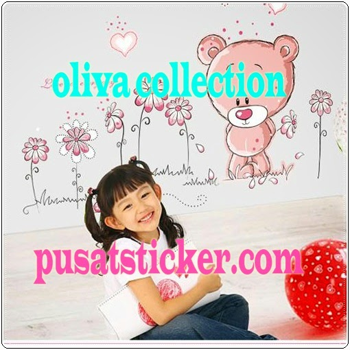 jual wall sticker new bear - olivacollection
