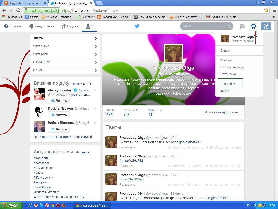 Как найти и установить в блог виджет соц сети Twitter