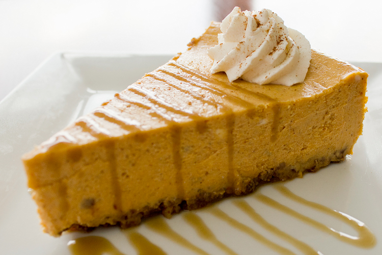 ... & Coke: Spiced Pumpkin Cheesecake with Bourbon Caramel Sauce and
