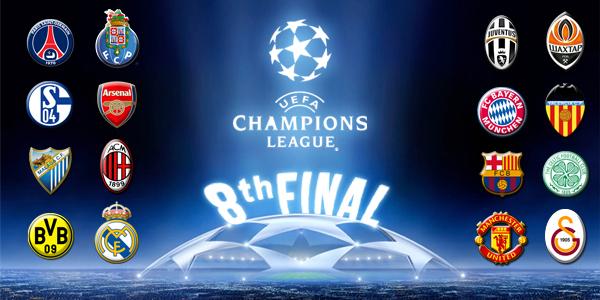Jadwal 16 Besar UEFA Liga Champions