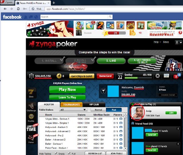 Facebook holdem poker