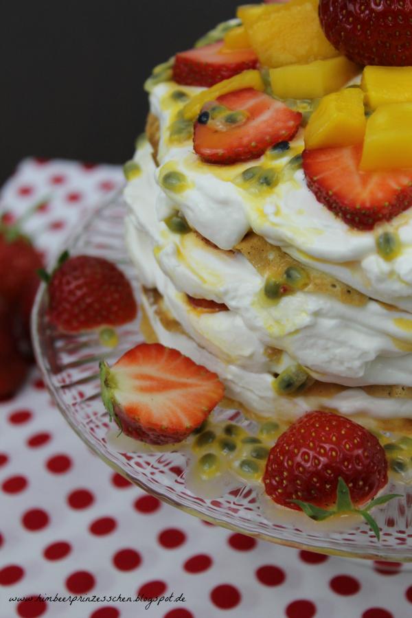 Pfannkuchen Torte Mango Maracuja Erdbeere Foodblog Himbeerprinzesschen