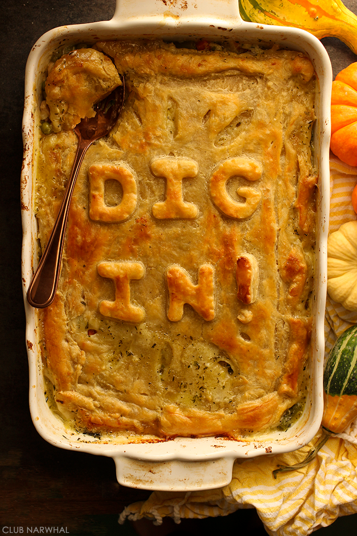 Chicken (or Leftover Turkey) Pot Pie for A Crowd