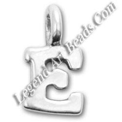 E Style silver Charms