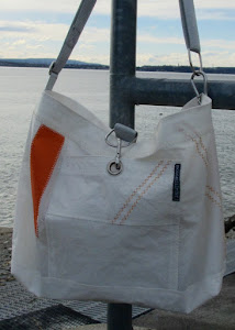 "Segeltasche ""Orange-Stripe"""