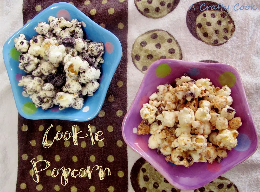 ... Crafty Cook: Cookies and Cream Popcorn ~ Chocolate Chip Cookie Popcorn