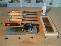 Kit de afilado de formones y soporte para piedra de afilar, enredandonogaraxe