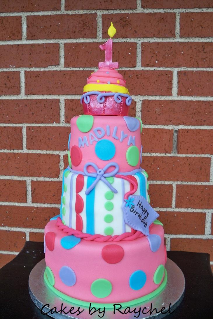 My Creative Way 1st Birthday Cupcake Cake 3 Tier Cupcake Cake