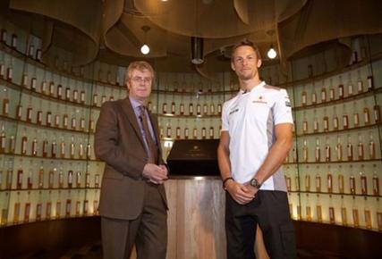 whisky bottle of limited-edition Johnnie Walker McLaren Mercedes Whiskey