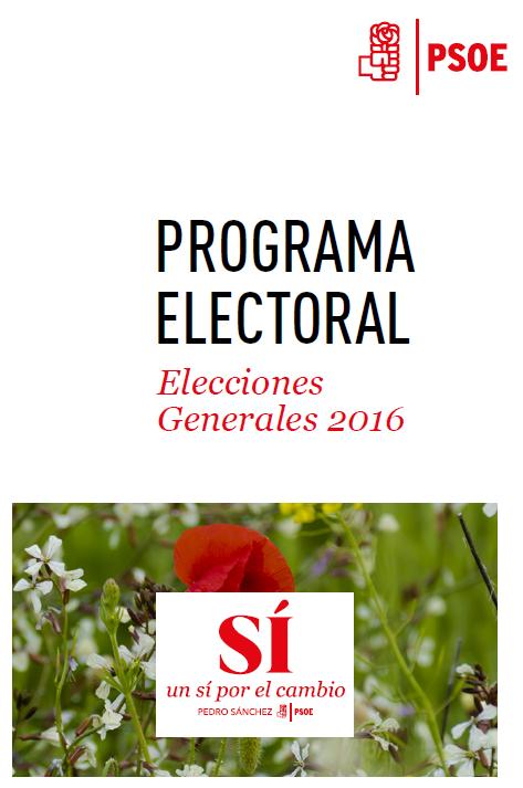 Programa Electoral Elecciones Generales 2016