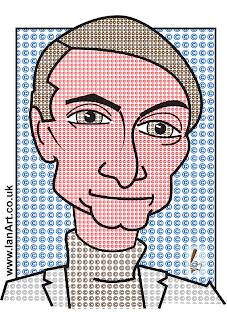 Roy Lichtenstein caricature