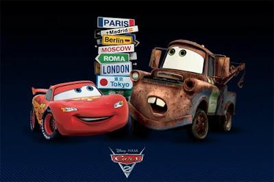Imagen de Cars 2 con Rayo McQueen y Mate