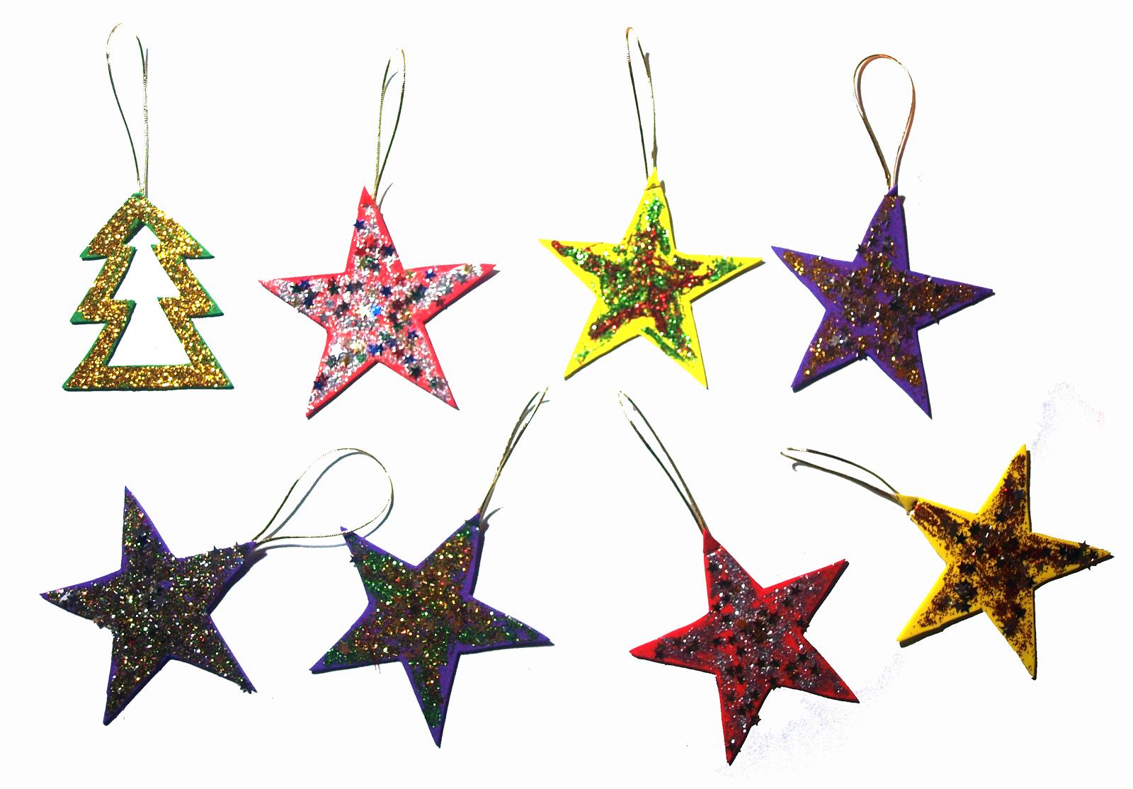 Manualnavidades manualidades para navidad m s estrellas - Manualidades para hacer adornos navidenos ...