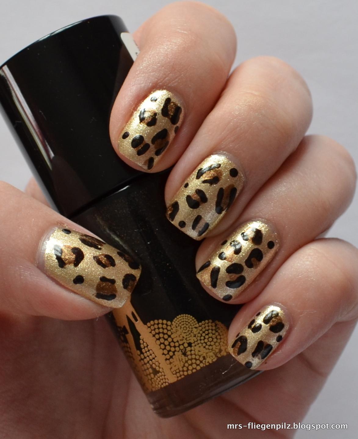 ElbLack : Nageldesign: Leopard Nails