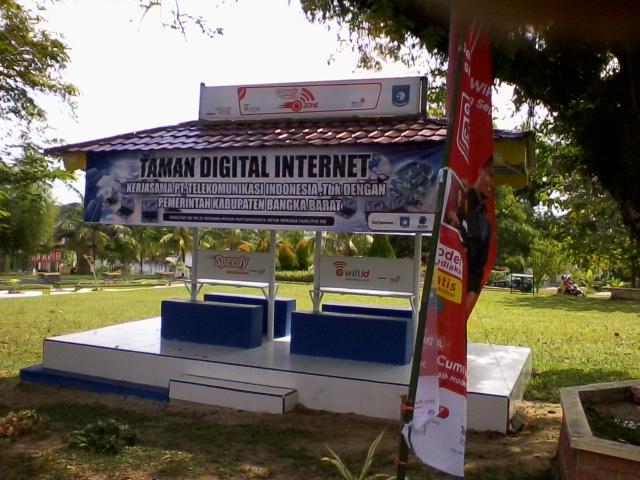 Telkom Bangun Taman Digital di Muntok, Bangka Barat