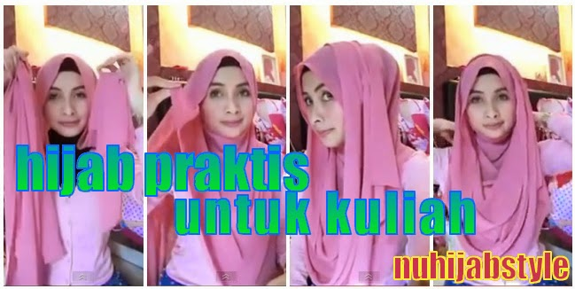 Tutorial Hijab Segi Empat Yang Praktis Untuk Kuliah ~ Tutorial Hijab ...