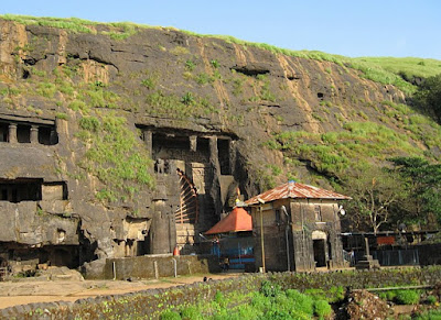 Picture of Karla Caves, largest Buddhist Rock Cut Caves in India
