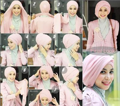 Tutorial Hijab Untuk Kebaya