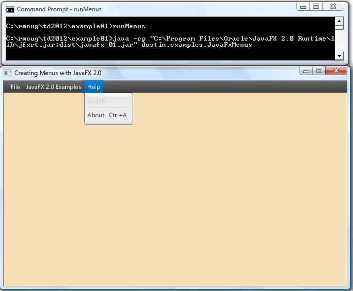 Pure Java Javafx 2 0 Menus Dzone Java
