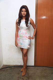 Oviya in a Very Short Satin Smooth Silky Sleeveless Dress Stunning Cute Beauty