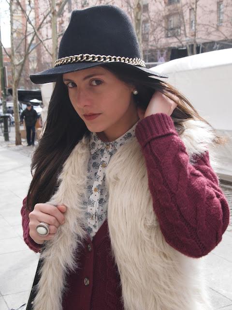 chaleco de pelo de Zara