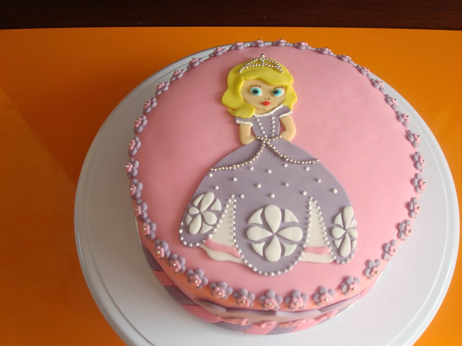 tarta fondant princesa