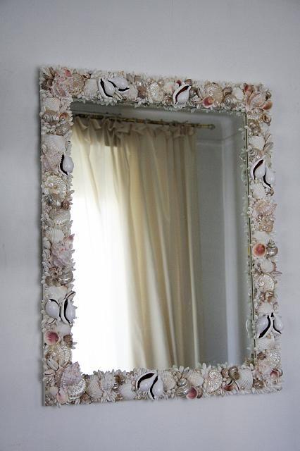 L 39 arte del riciclo creativo conchiglie - Gioco specchio da decorare ...