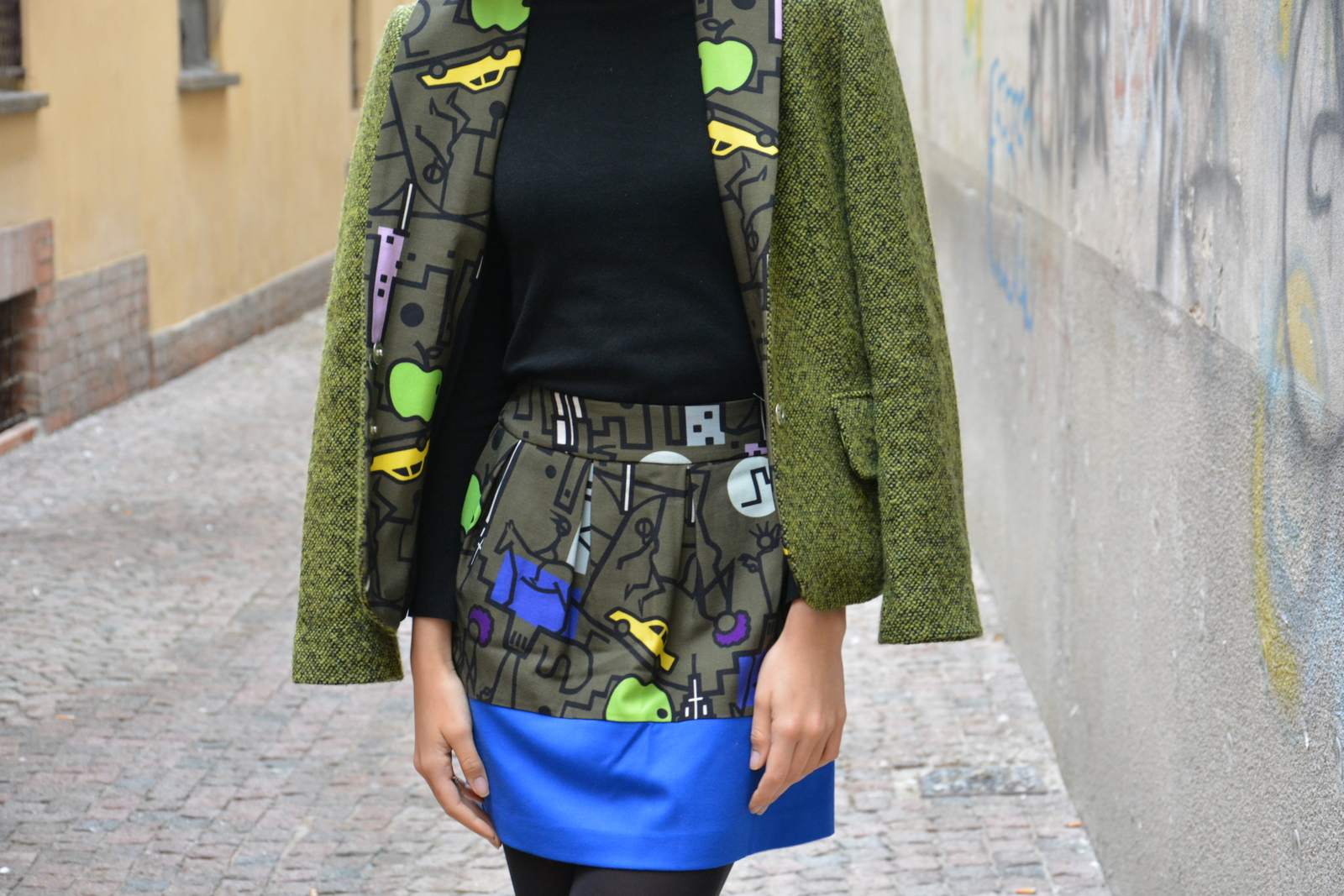 outfit, ootd, ultrachic milano, model, Juliane Borges, patterns, fun, Culture & Trend Magazine, Zara,