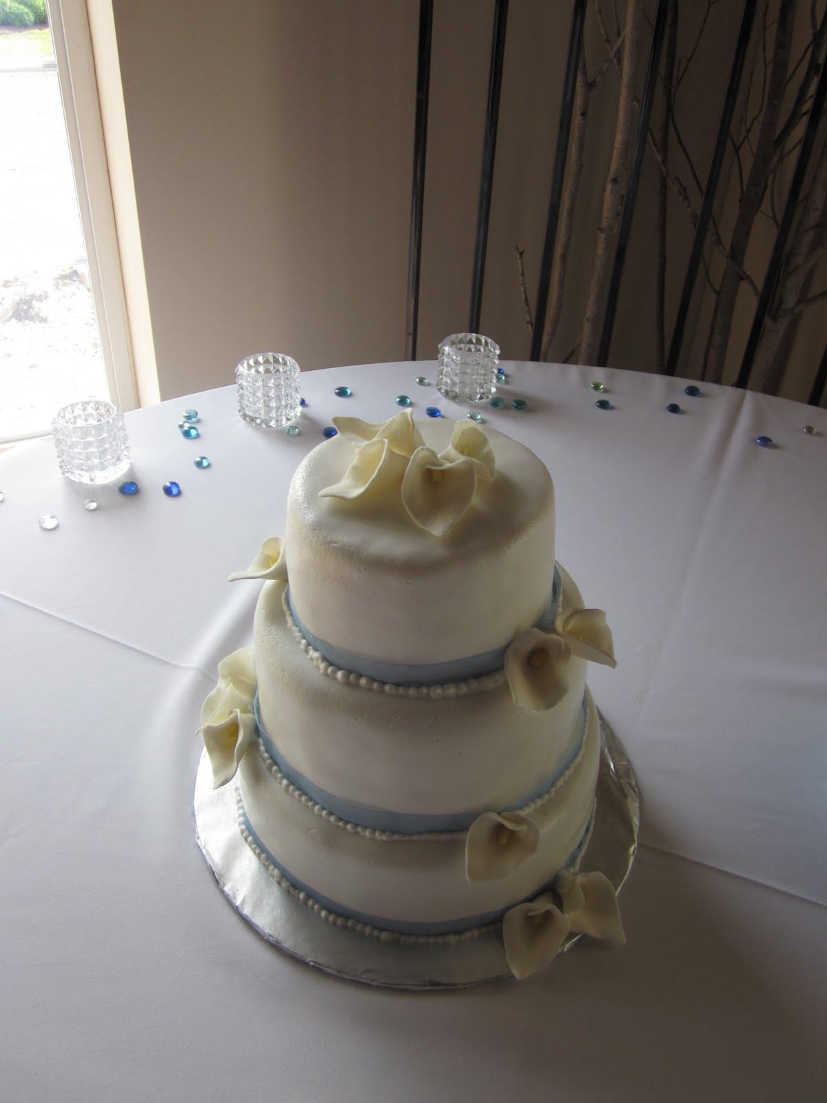 Second Generation Cake Design Calla Lily Wedding Cake