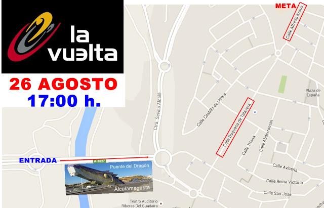 Dispositivo de tráfico para la llegada de la 5ª Etapa de la Vuelta Ciclista a España 2015