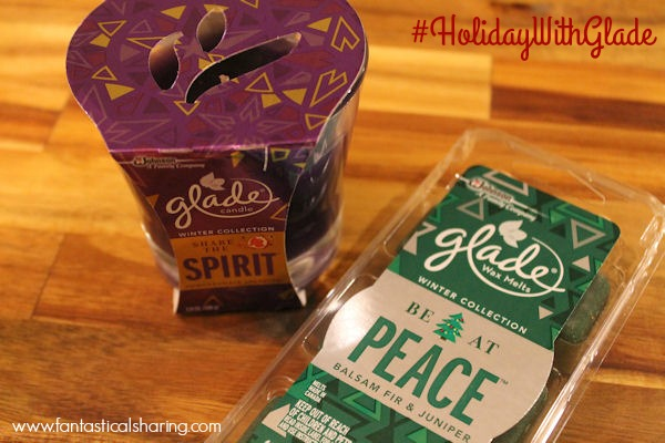 Glade® Limited Edition Winter Collection | BE AT PEACE™ Balsam Fir & Juniper and SHARE THE SPIRIT™ Pomegranate Sparkler™ #HolidayWithGlade #ad