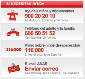 TELÉFONOS ANAR