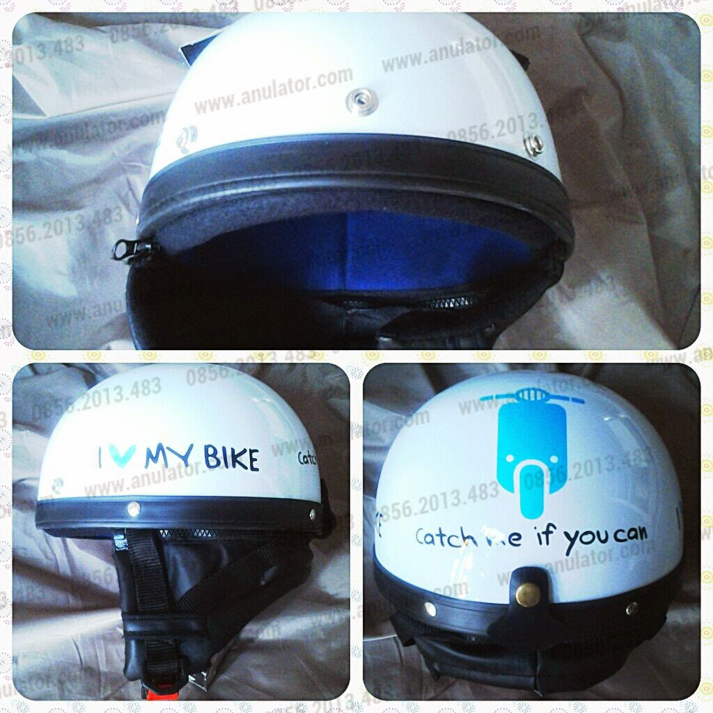 Helm Andes White-Blue Vespa CMIYC
