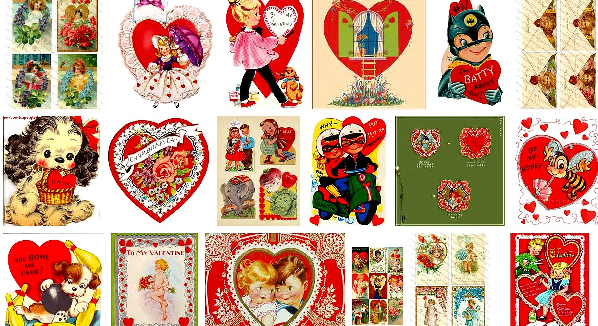 Ms Dow Antiques Tique Talk by Marianne Dow Happy St Valentines – St Valentines Cards