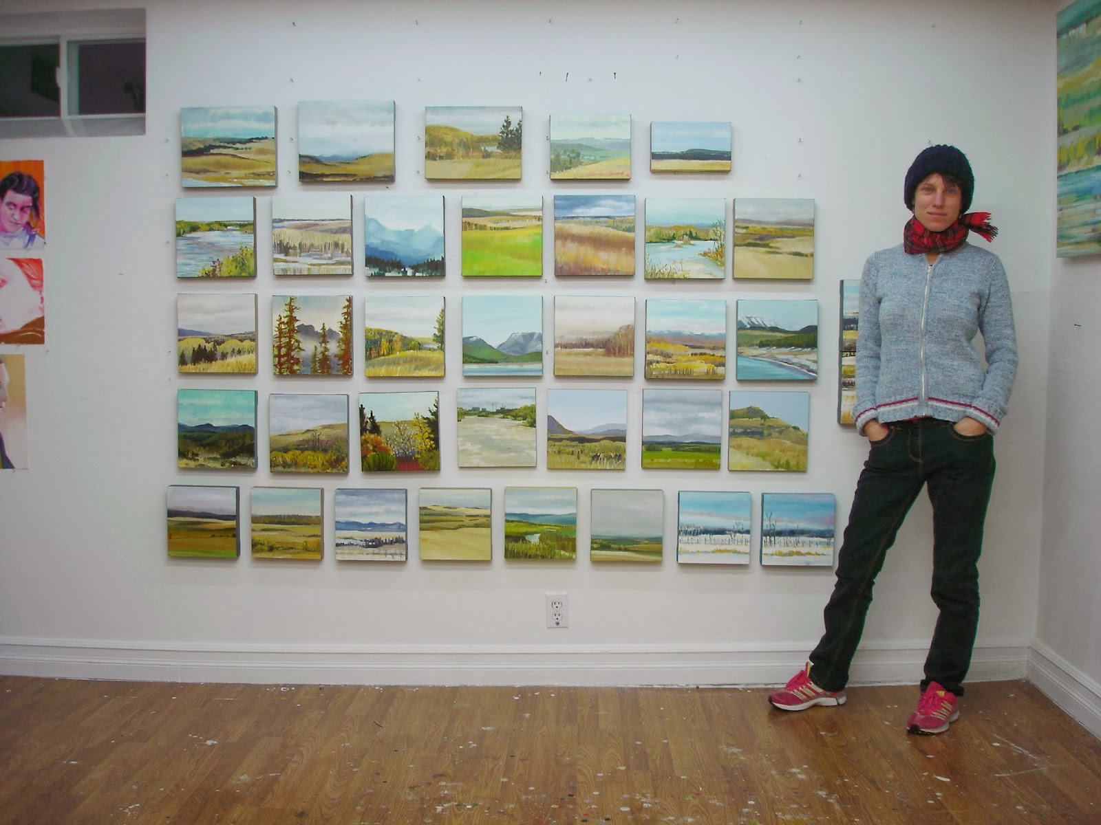 verna vogel with her plein air paintings