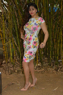 Namitha Stills in Floral Short Dress at Pottu Movie Launch ~ Celebs Next