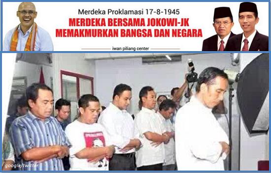 Terbongkar! Tentang Pencitraan Jokowi Ketika Jadi Imam Sholat Saat Pilpres 2014