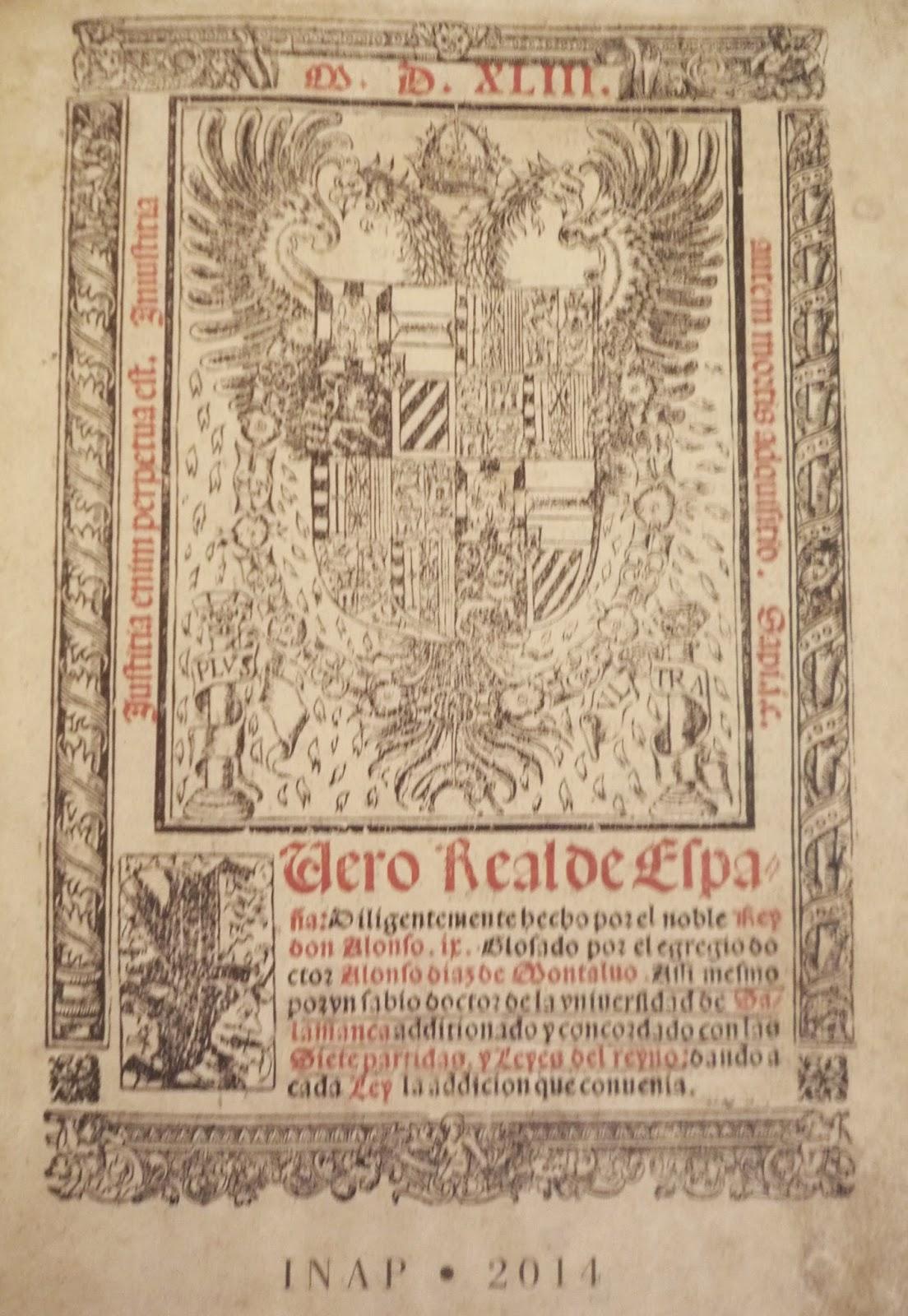 Facsímil del Fuero Real de España