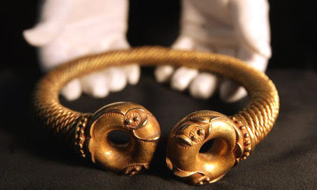 Iron age gold collar, 2,200 years old
