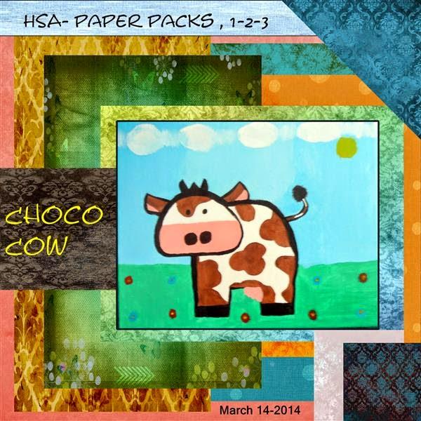 HSA paperpack 1-2-3- choco koe